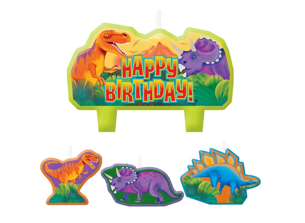Prehistoric Dinosaurs Candle Set
