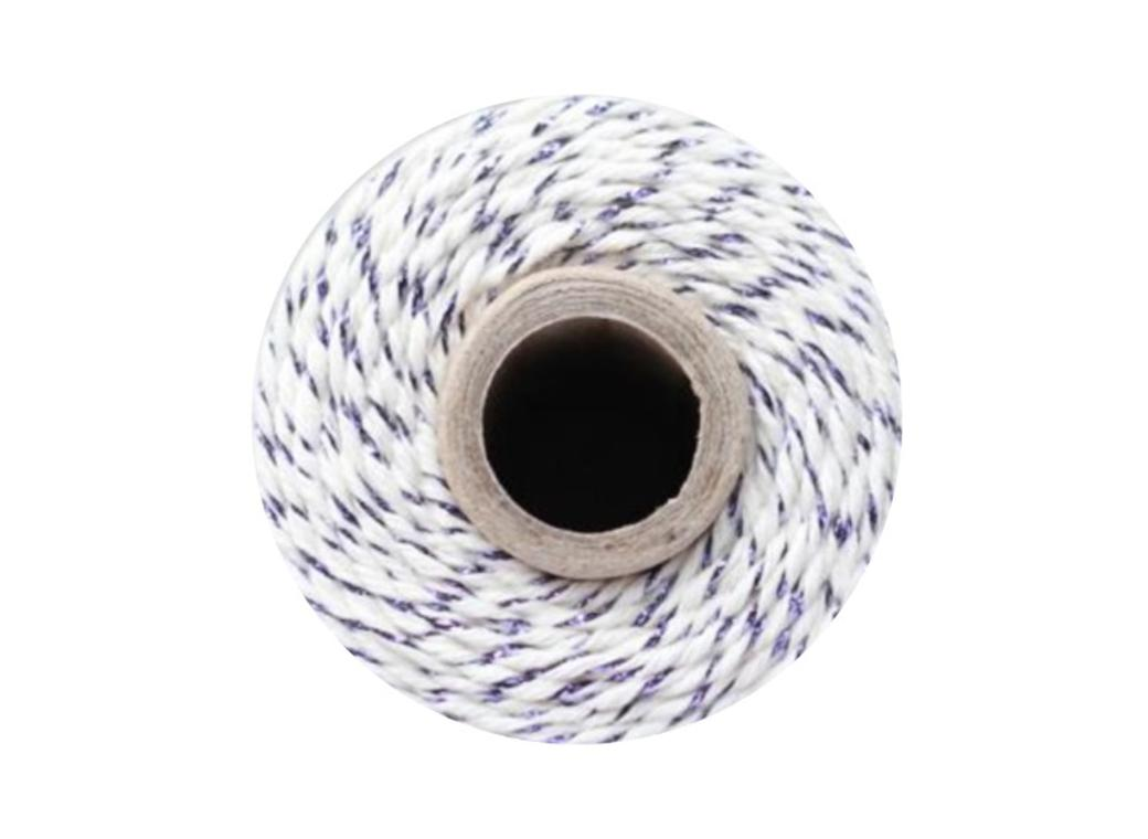 Bakers Twine - Natural & Purple Shimmer Twine
