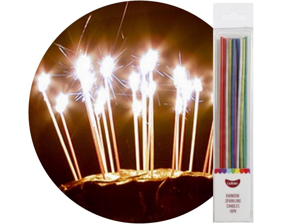 Sparkling Candles 18pk Rainbow