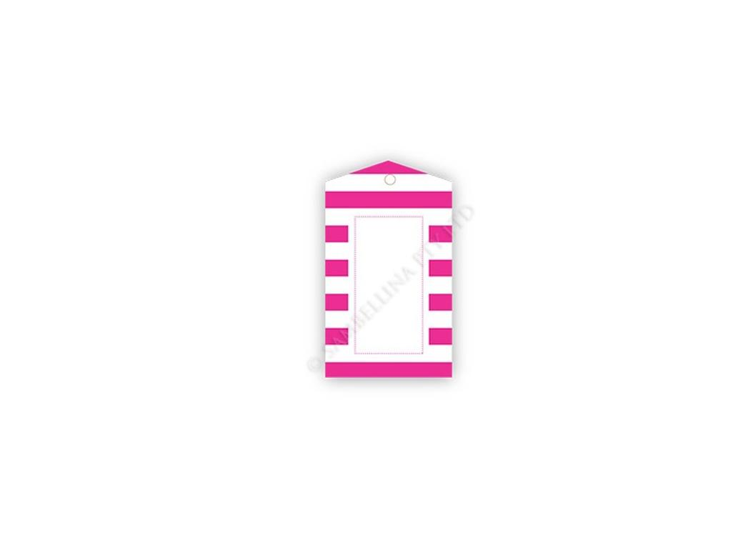 Sambellina Gift Tags - Raspberry Candy Stripes