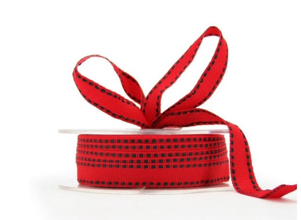 Red & Green Grosgrain Ribbon