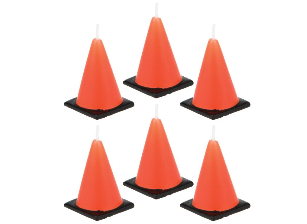 Road Cone Candles 6pk