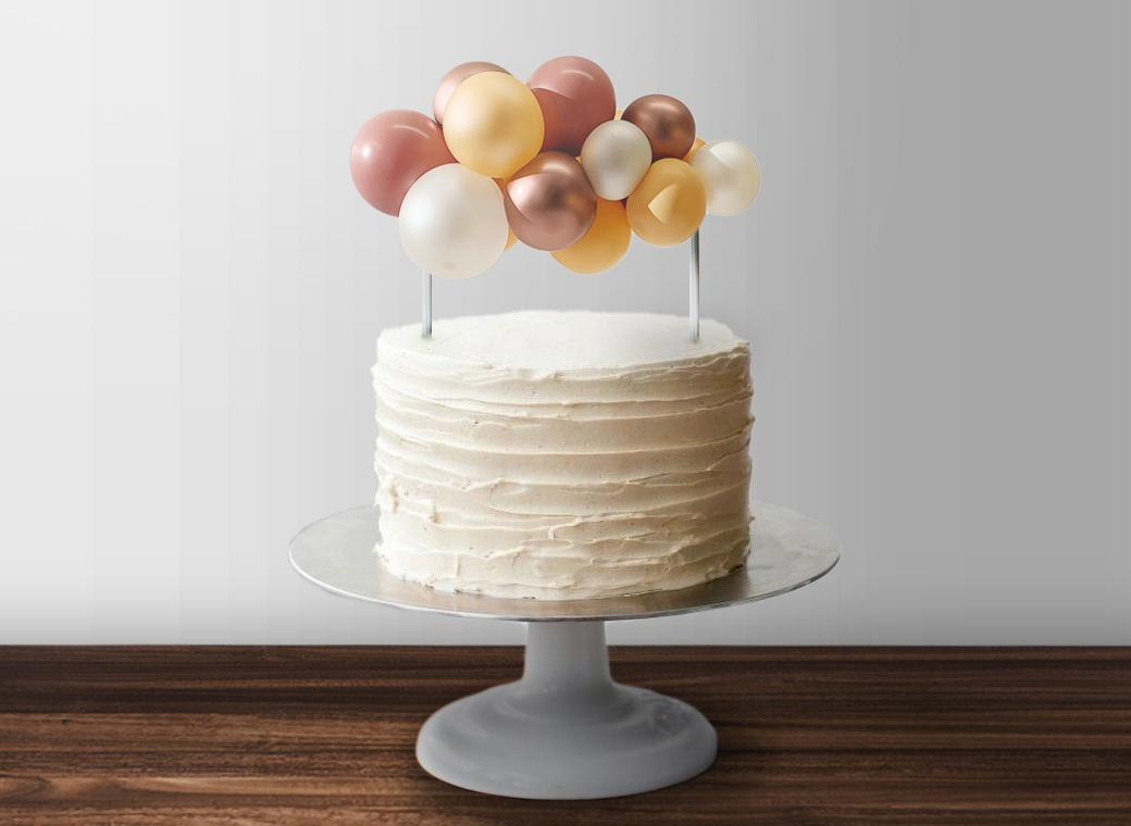 Balloon Garland Cake Topper - Rose