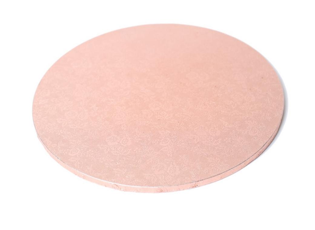 Rose Gold Masonite Cake Board Round 12in