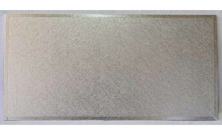 "Cake Board MDF Rectangle 16""x8"" - Silver"