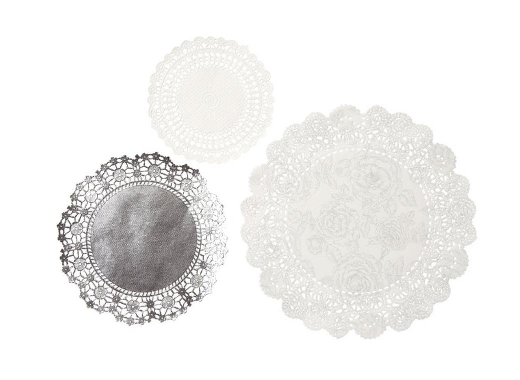 Party Porcelain Silver Doilies