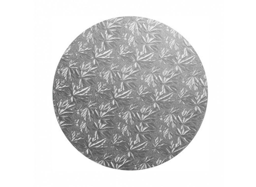 Silver Masonite Round Cake Board 8""