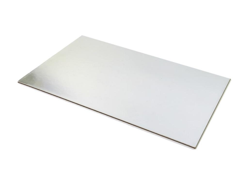 Silver Rectangle Cake Card - Quarter Slab
