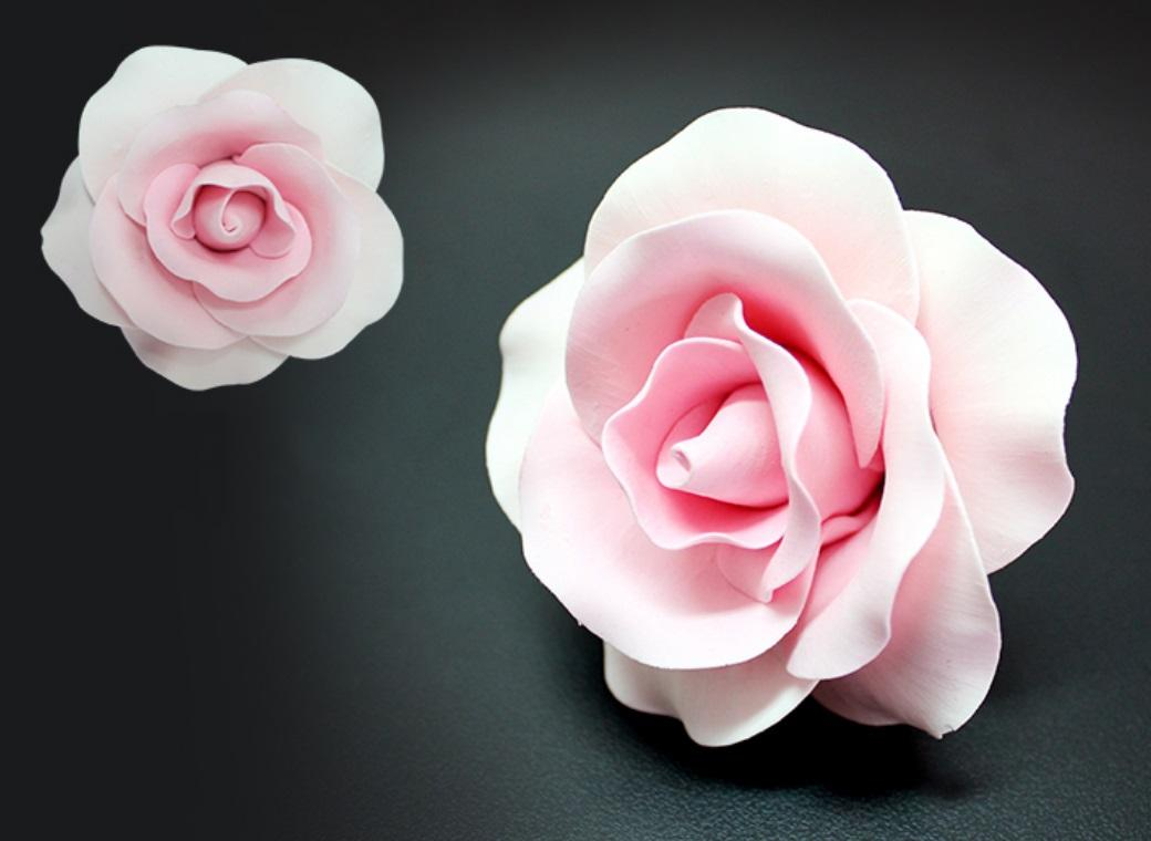 Ready made gumpaste flowers cake kitchen single gumpaste rose large pink izmirmasajfo