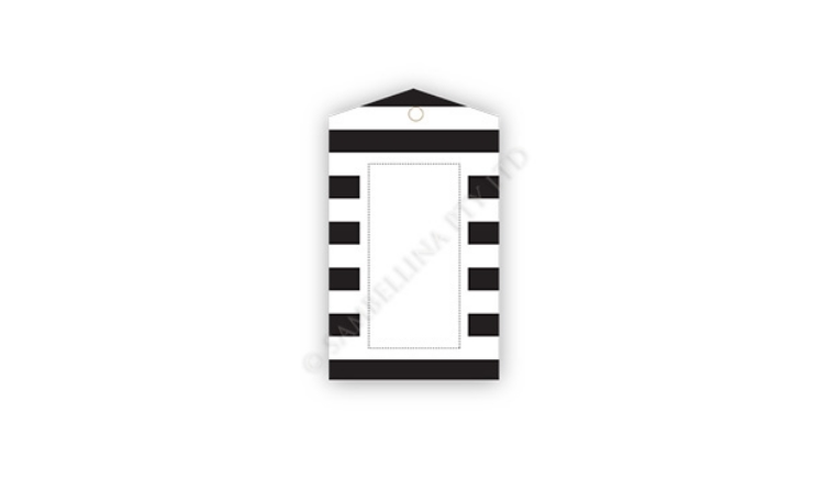 Sambellina Gift Tags - Black & White Stripes