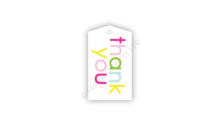 Sambellina Gift Tags - Rainbow Thank You