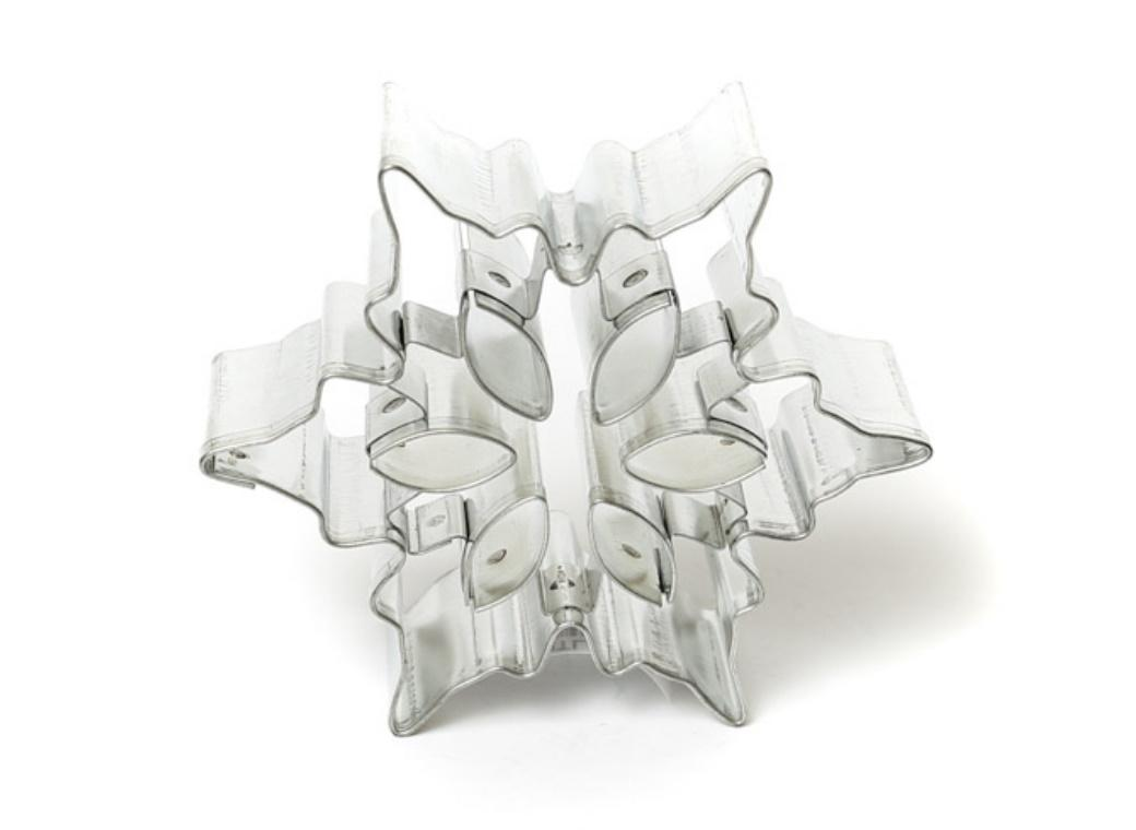 Snowflake with Cutouts Cookie Cutter