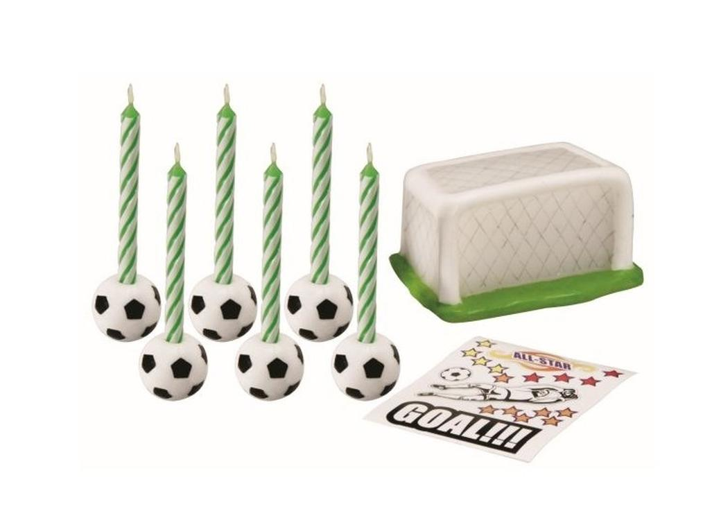 Soccer Theme Candle Set