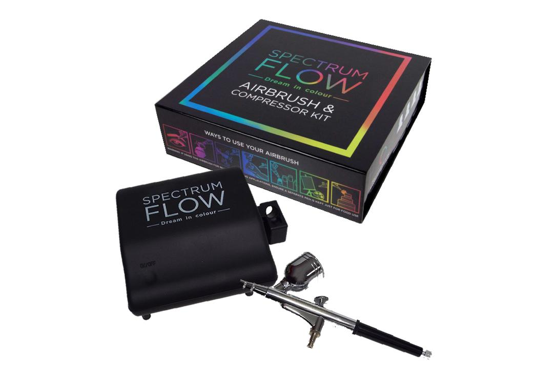 Spectrum Flow Airbrush & Compressor Set