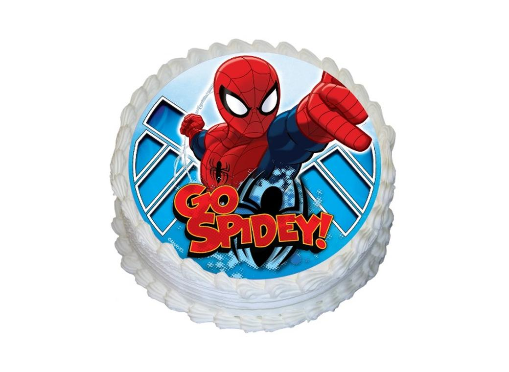 Edible Icing Image - Spiderman Round