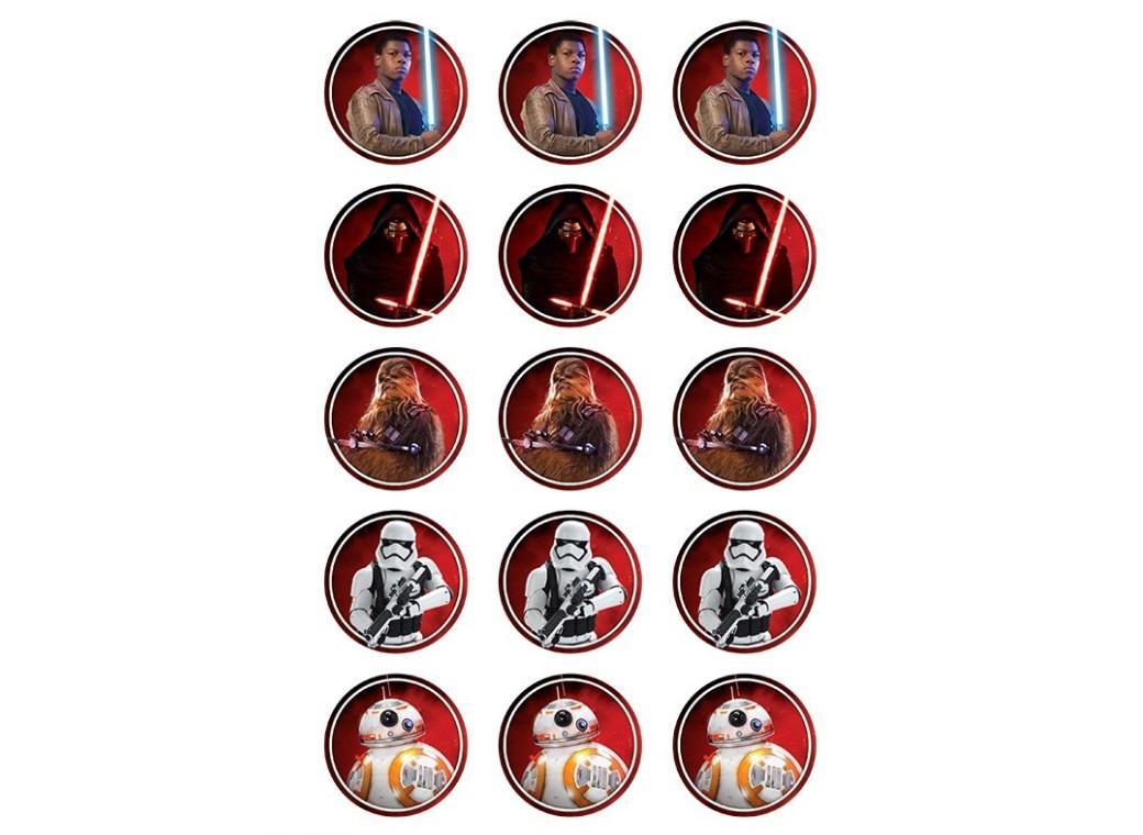 Edible Icing Cupcake Image - Star Wars VII