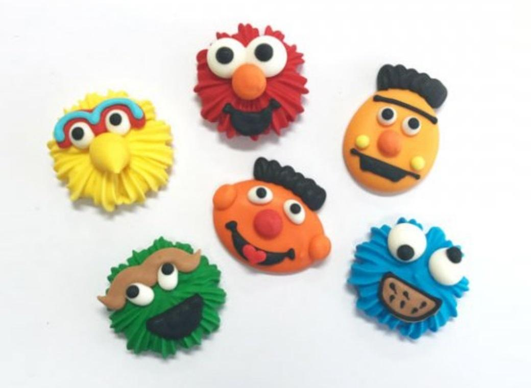 Sugar Icing Decorations 6pk - Sesame Street
