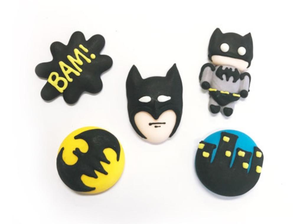 Sugar Icing Decorations 6pk - Batman
