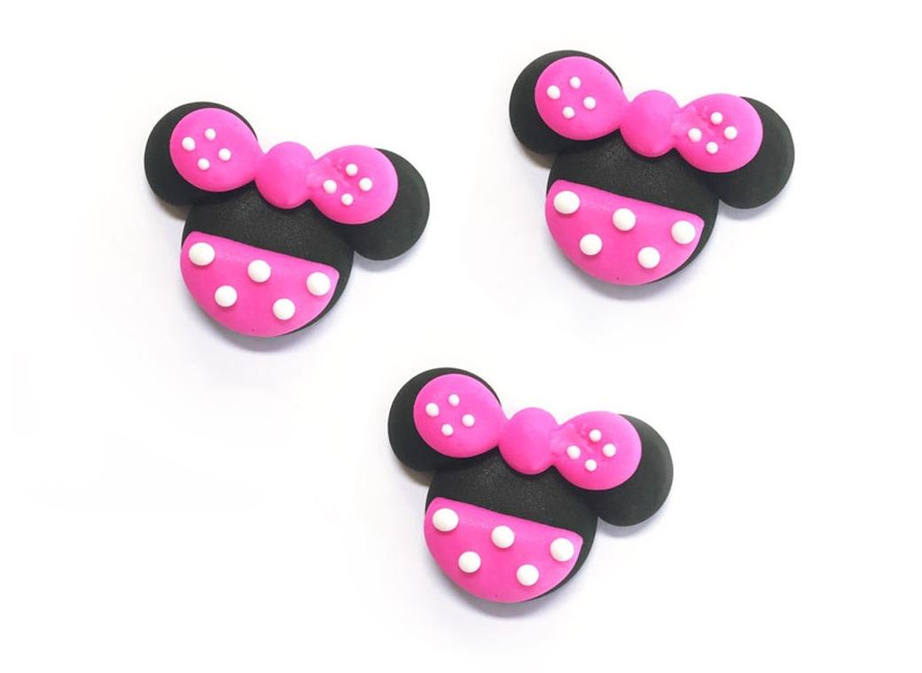 Sugar Icing Decorations 6pk - Minnie Mouse
