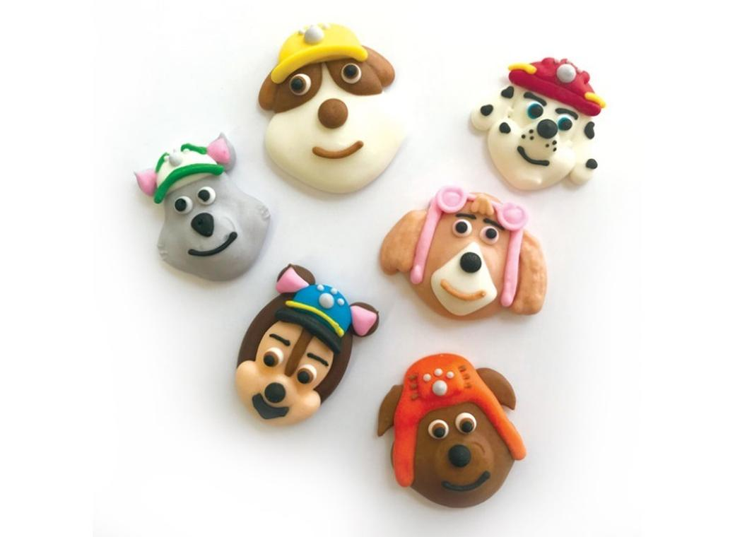 Sugar Icing Decorations 6pk - Paw Patrol