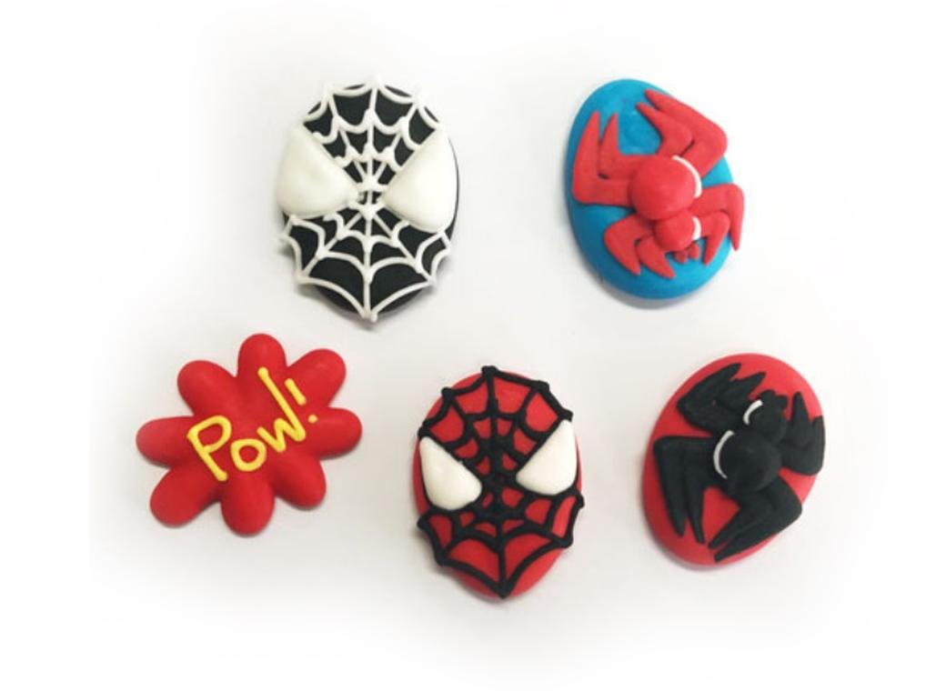 Sugar Icing Decorations 6pk - Spiderman