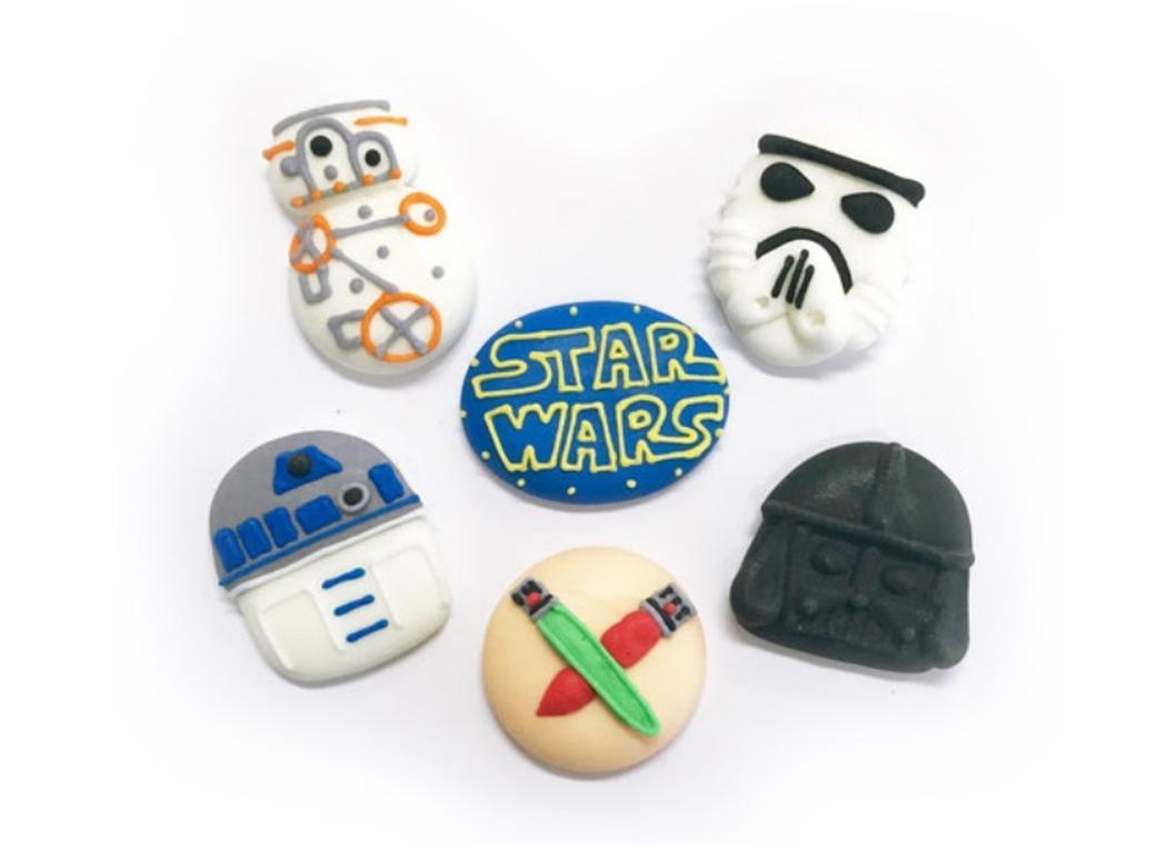 Sugar Icing Decorations 6pk - Star Wars