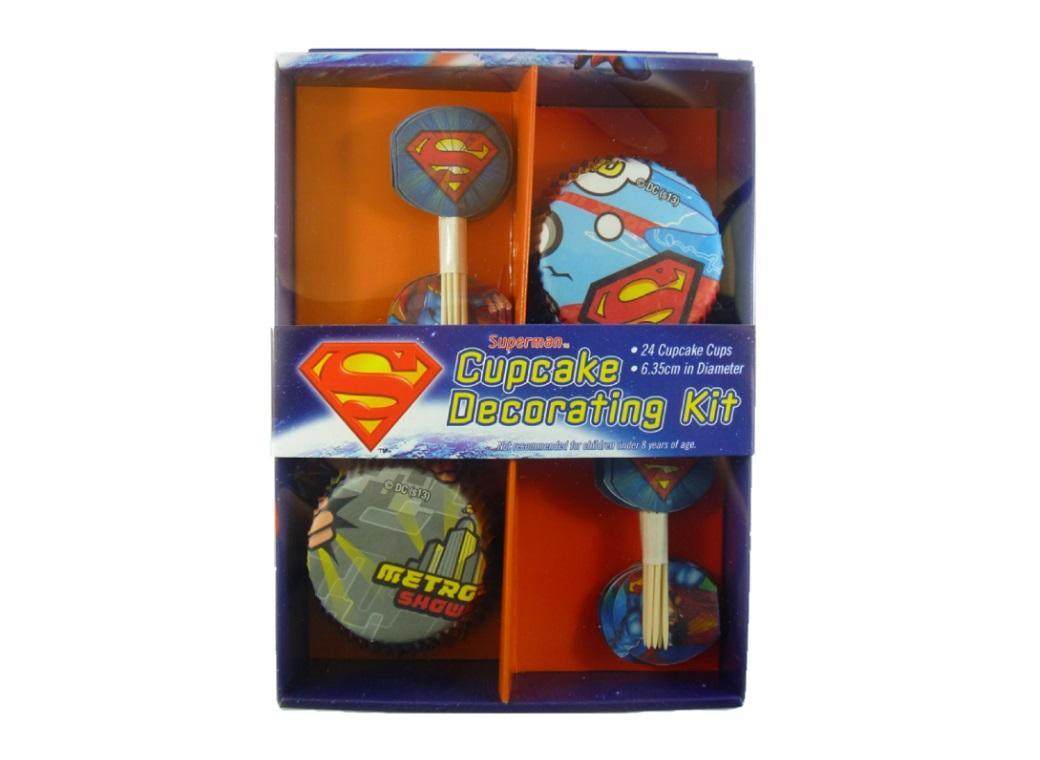 Superman Cupcake Decorating Kit
