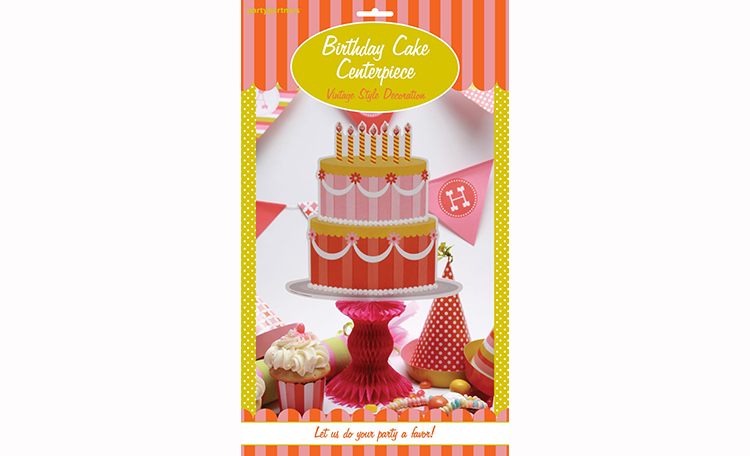 Sweet Soiree Birthday Cake Centerpiece