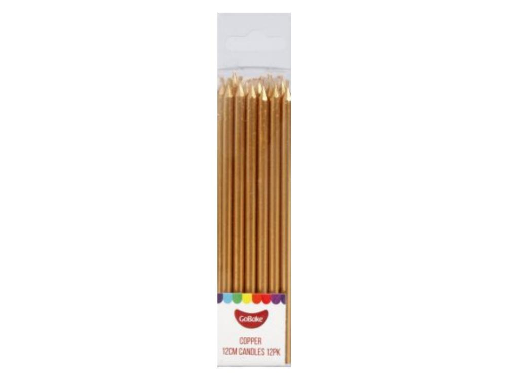 Tall Candles Copper 12pk