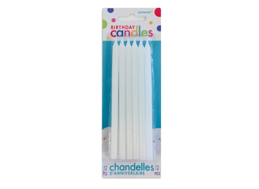 Tall White Candles 12pk