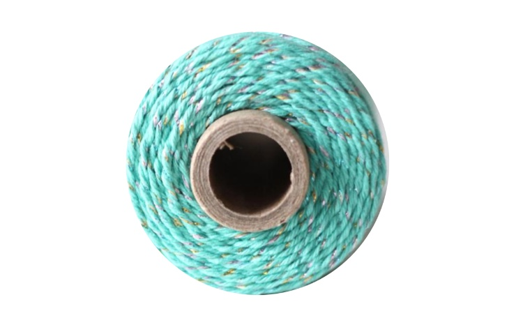 Bakers Twine - Natural & Teal Shimmer Twine