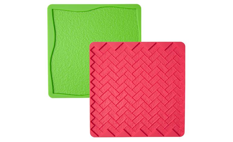 Wilton Silicone Texture Mat - Grass/Brick