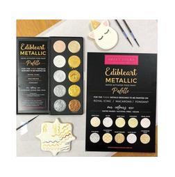 Edible Art Paint - Metallic 10 Pan Palette