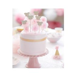 We Heart Pink - Cake Toppers