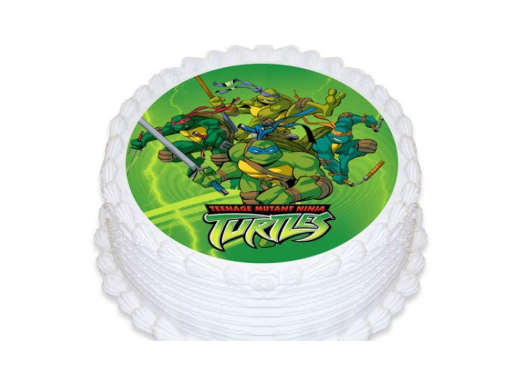 Edible Icing Image - Teenage Mutant Ninja Turtles Round