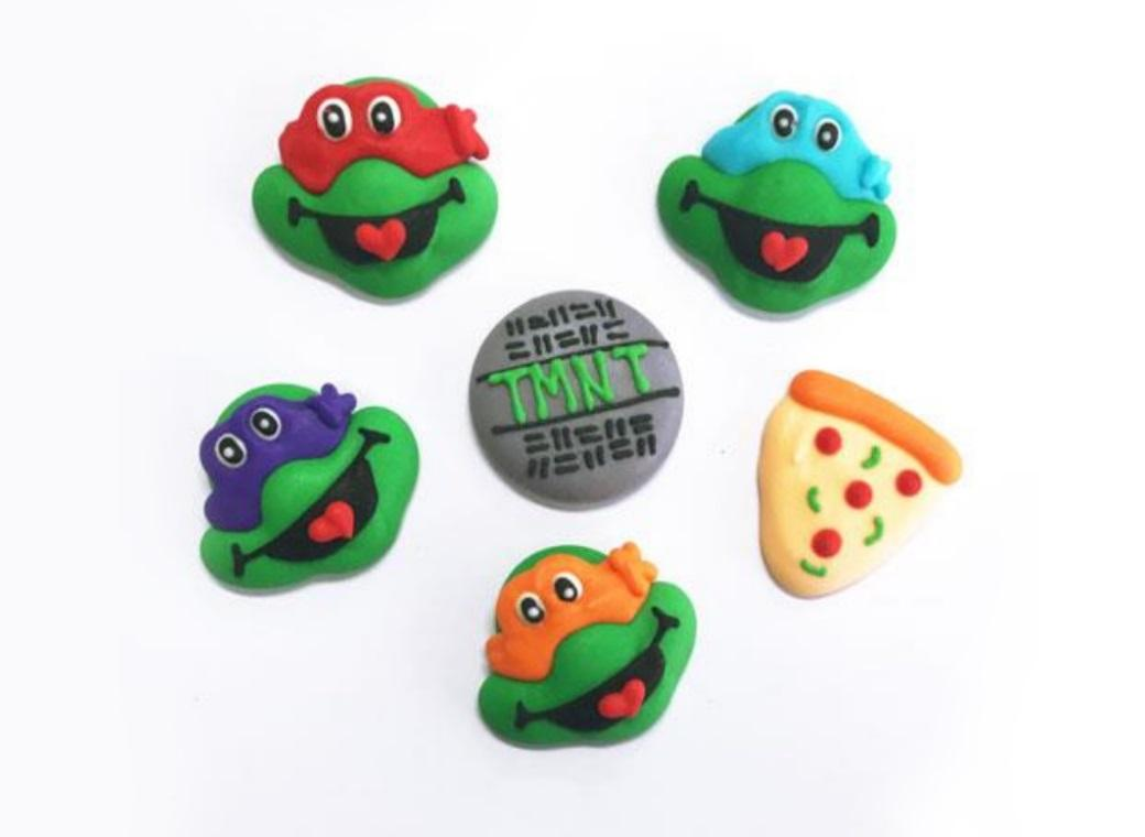 Sugar Icing Decorations 6pk - Ninja Turtles