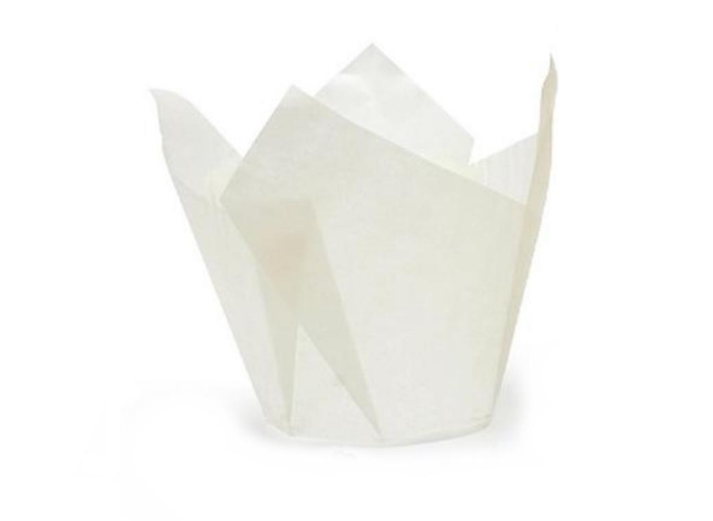 Tulip Baking Cups White 100pk
