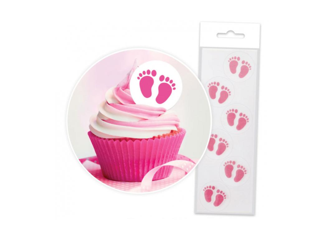 Wafer Baby Feet - Pink