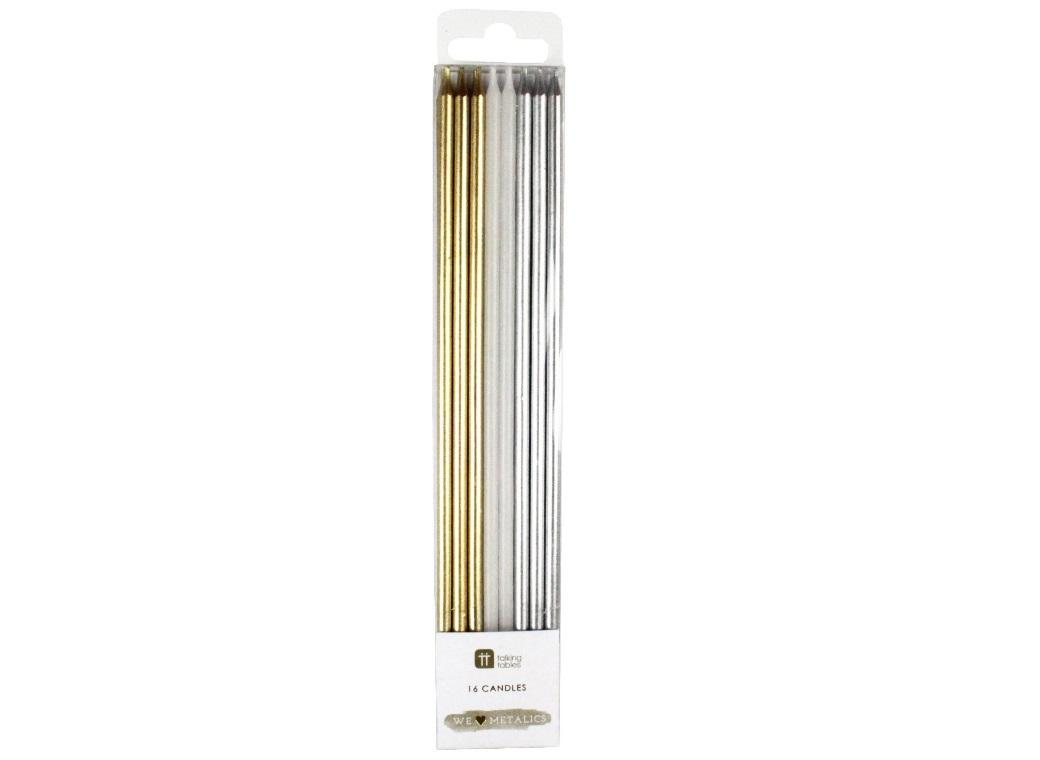 We Heart Metallic Candles 16pk