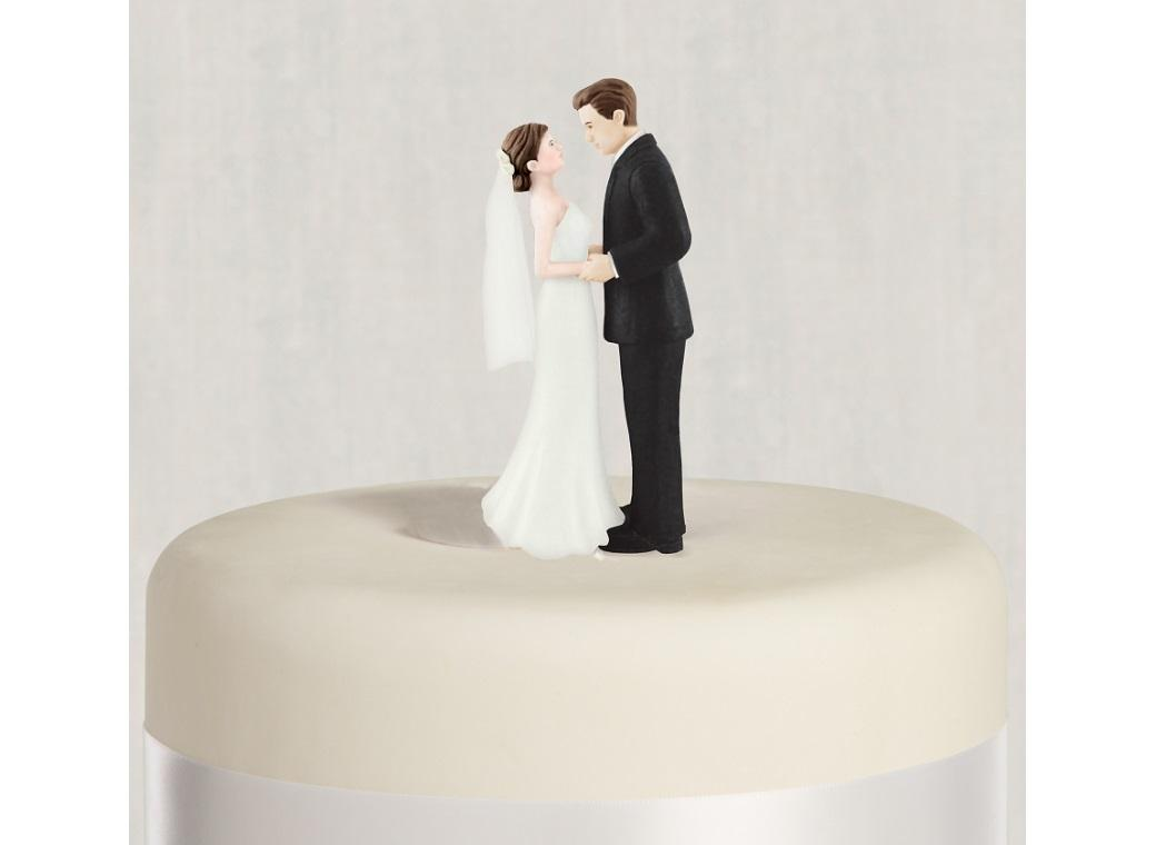 Wedding Cake Topper - Brunette Bride