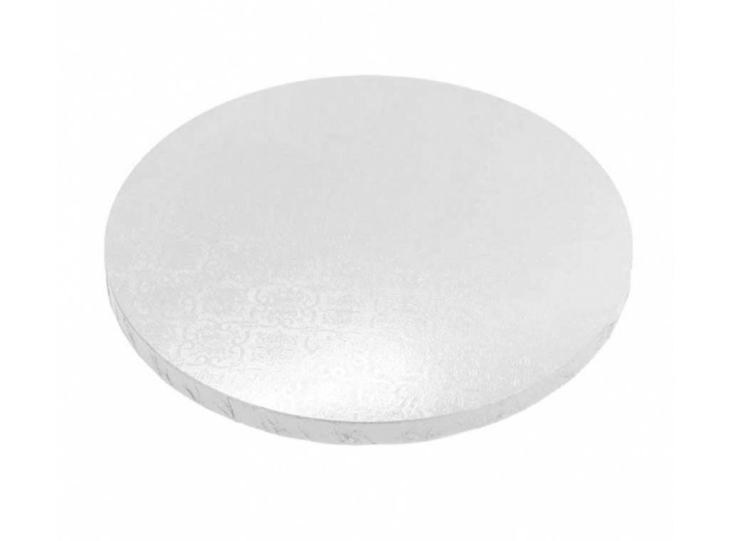 White 15mm Masonite Cake Board Round - 12""