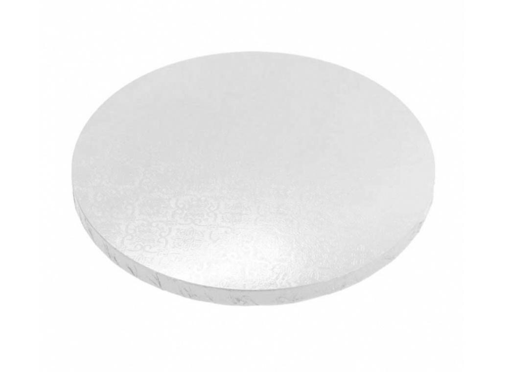 White 15mm Masonite Cake Board Round - 13""