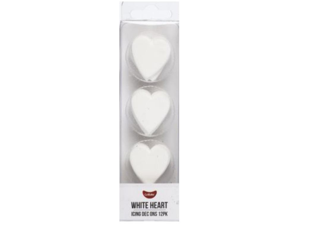 Dec Ons Pearl White Hearts 9pk