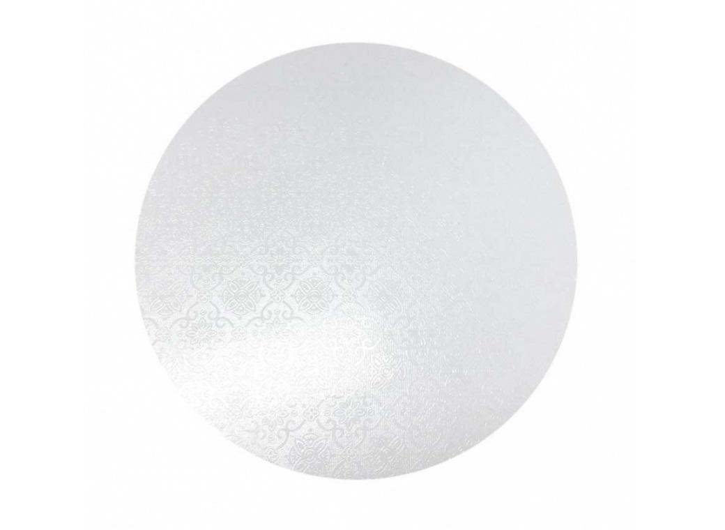 White Masonite Cake Board Round - 9""