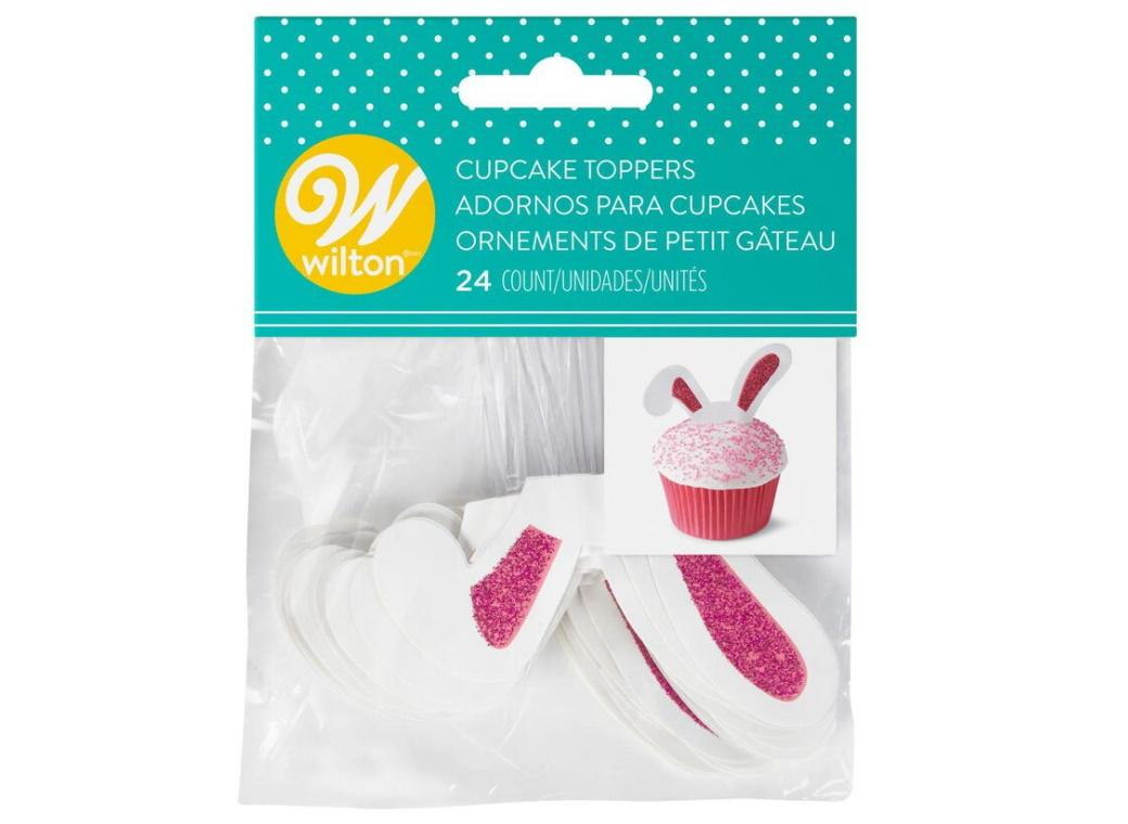 Wilton Bunny Ears Cupcake Toppers 24pk