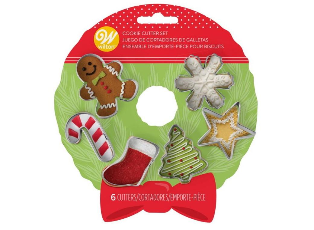 Wilton Christmas Wreath 6pce Mini Cookie Cutter Set