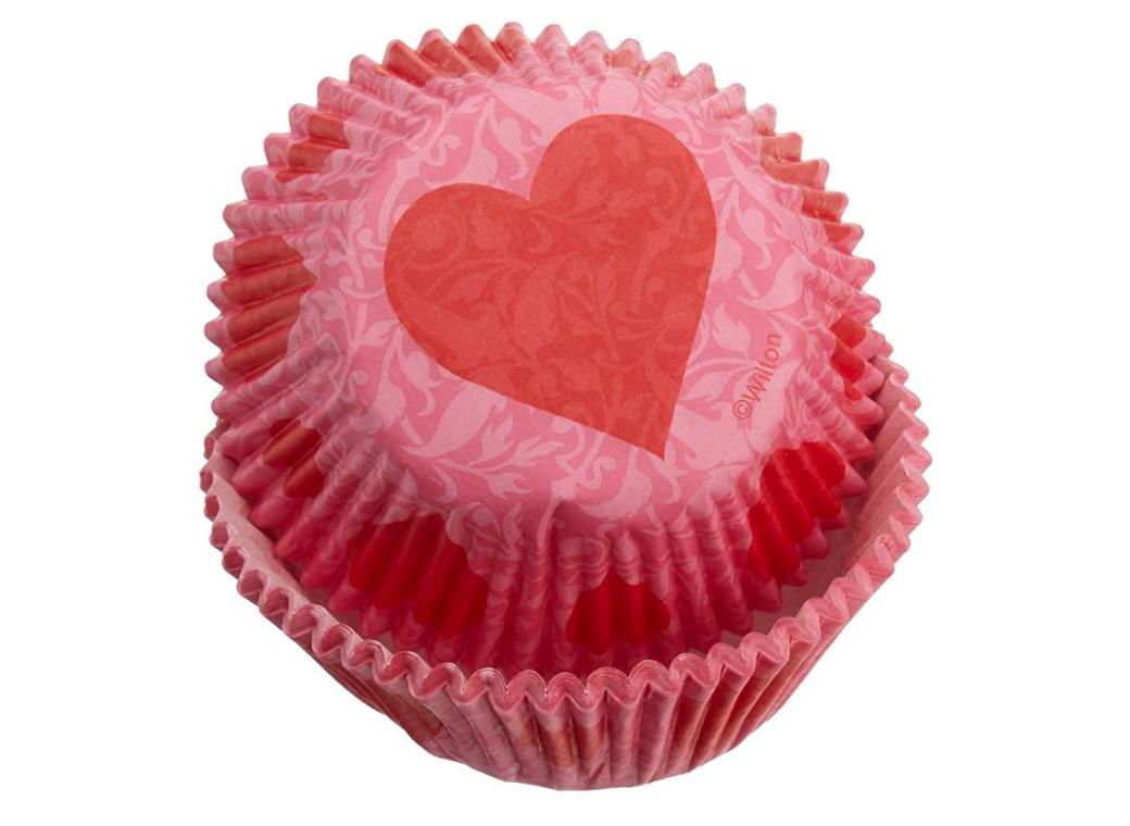 Wilton Heart Damask Cupcake Cases 75pk