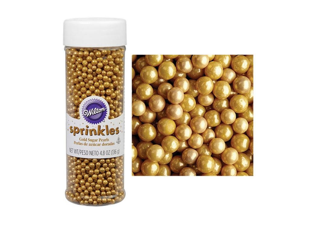 Wilton Sugar Pearls - Gold