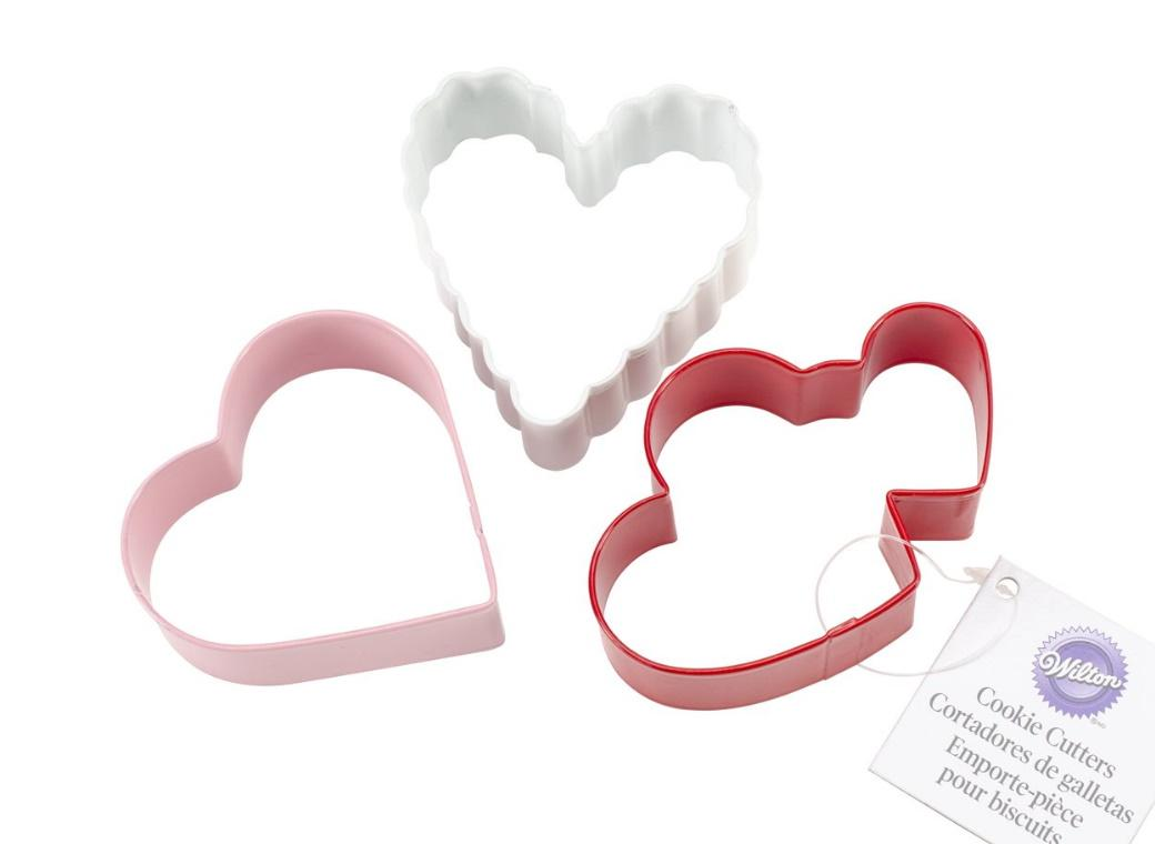 Wilton Hearts 3pce Cookie Cutter Set