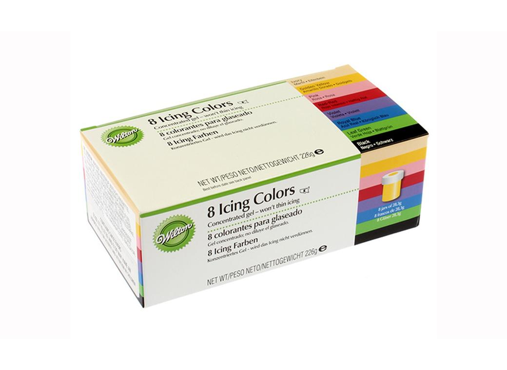 Wilton Icing Gel Colours - 8pc